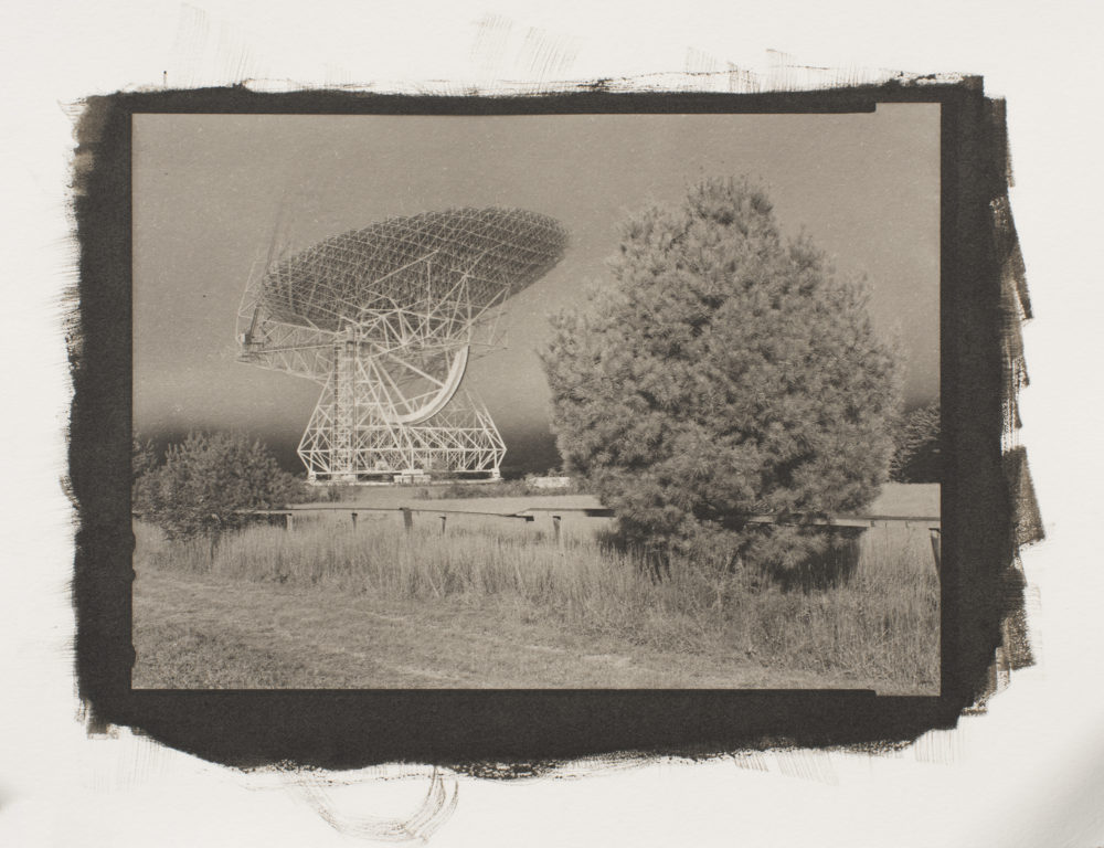 A platinum/palladium print of the Green Bank Telescope, at the Green Bank National Radio Astronomy Observatory